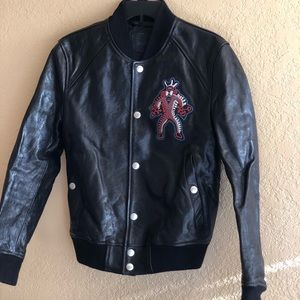 DIESEL Men's Bomber Jacket In Leather Size 44
